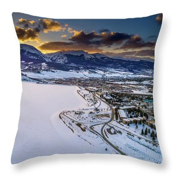 Throw Pillow featuring the photograph Lake Dillon Sunset by Sebastian Musial