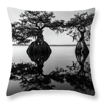 Lake Disston Old Couple Throw Pillow