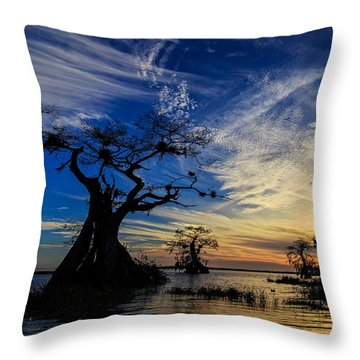 Lake Disston Sunset Throw Pillow