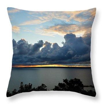 Lake Effect Sky Throw Pillow