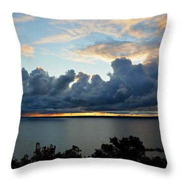 Throw Pillow featuring the photograph Lake Effect Sky by SimplyCMB