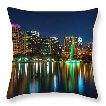 Lake Eola Orlando Throw Pillow