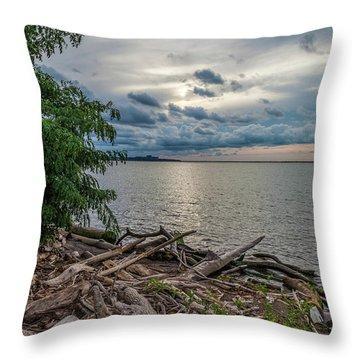 Lake Erie Serenade Throw Pillow