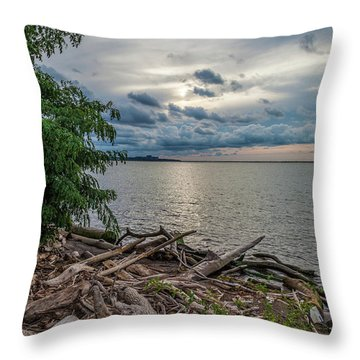 Lake Erie Serenade Throw Pillow