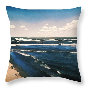 Lake Erie Whitecaps  Throw Pillow by Shawna Rowe