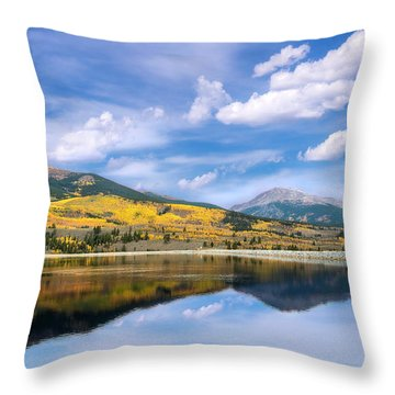 Throw Pillow featuring the photograph Lake Forebay Reflections by Tim Reaves
