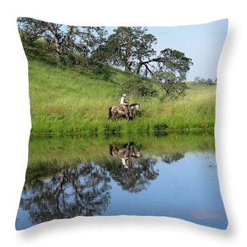 Lake Front Property Throw Pillow