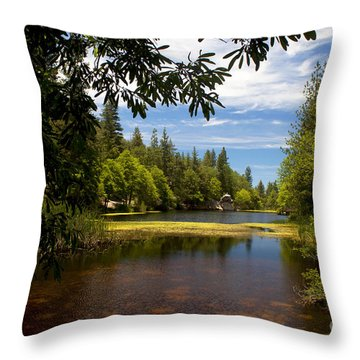 Lake Fulmor View Throw Pillow by Ivete Basso Photography