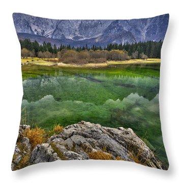 Lake Fusine Throw Pillow