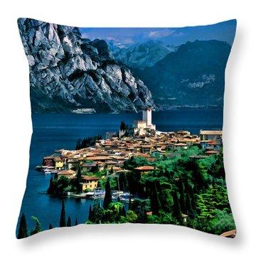 Lake Garda Throw Pillow
