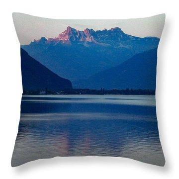 Lake Geneva, Switzerland Throw Pillow
