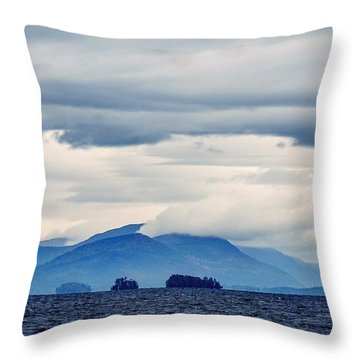 Lake George Is The Queen Of American Lakes Throw Pillow
