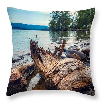 Lake George Palette Throw Pillow