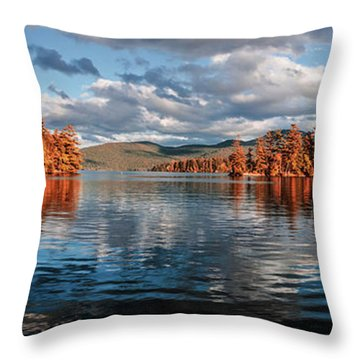 Lake George Panorama  Throw Pillow