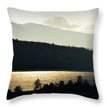 Lake Glimmer Throw Pillow by AJ  Schibig