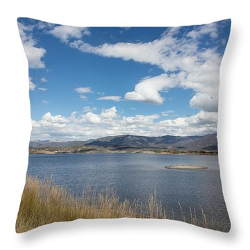 Lake Granby -- The Third-largest Body Of Water In Colorado Throw Pillow by Carol M Highsmith