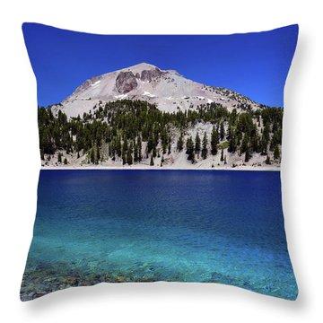 Throw Pillow featuring the photograph Lake Helen Mount Lassen 2 by Frank Wilson