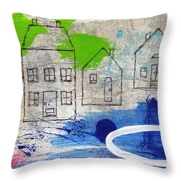 Lake Houses Throw Pillow