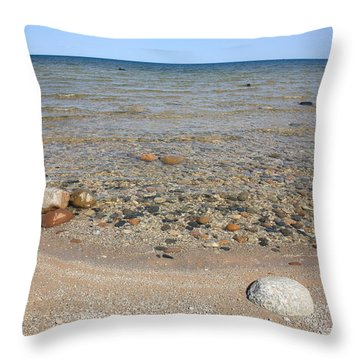Lake Huron Throw Pillow by Frank Romeo