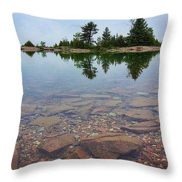Lake Huron Island Throw Pillow
