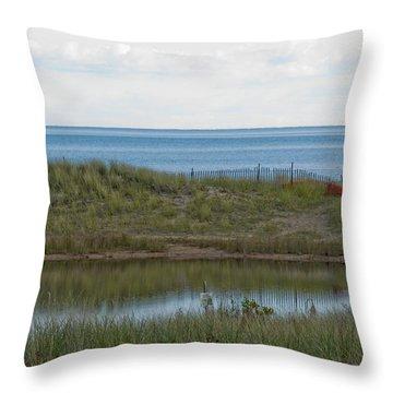 Throw Pillow featuring the photograph Lake Huron by Tara Lynn