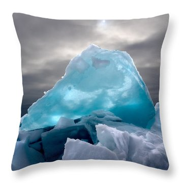 Lake Ice Berg Throw Pillow
