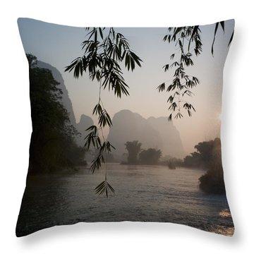Lake In Mountain Area Throw Pillow by Keith Levit