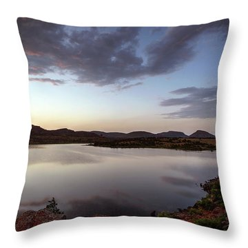 Lake In The Wichita Mountains  Throw Pillow
