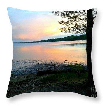 Lake In Virginia Throw Pillow