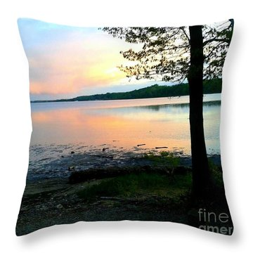 Lake In Virginia Throw Pillow