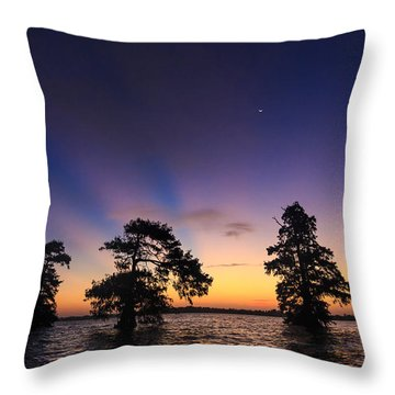 Lake Istokpoga Sunrise Throw Pillow