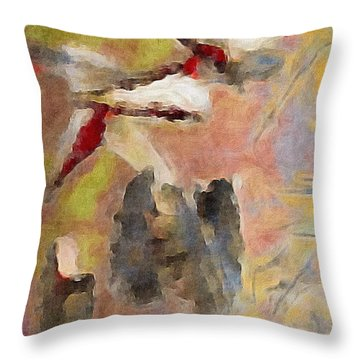 Lake Life Throw Pillow by William Wyckoff