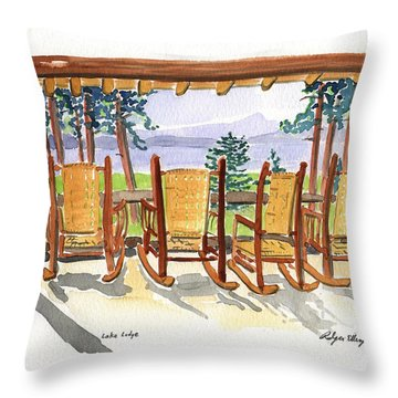 Lake Lodge Throw Pillow
