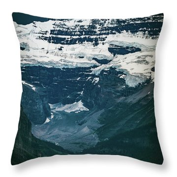 Throw Pillow featuring the photograph Lake Louise At Distance by William Lee