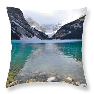 Lake Louise Beauty Throw Pillow by Andrea Hazel Ihlefeld