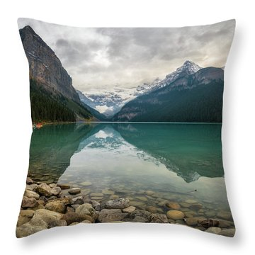 Lake Louise In The Fall Throw Pillow