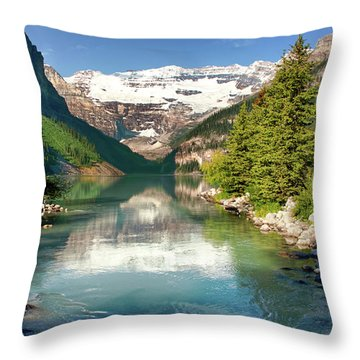 Throw Pillow featuring the photograph Lake Louise by Mary Jo Allen