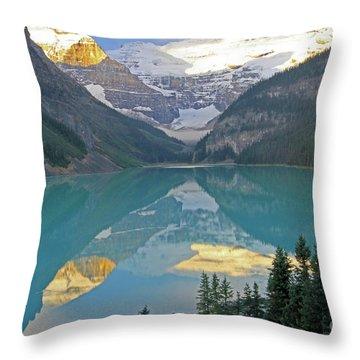 Lake Louise Sunrise Throw Pillow