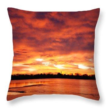 Lake Loveland Sunrise Throw Pillow by Billie Colson