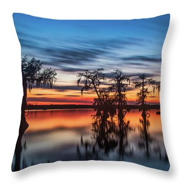 Lake Martin Sunset Throw Pillow