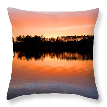 Lake Maumelle Sunset Throw Pillow
