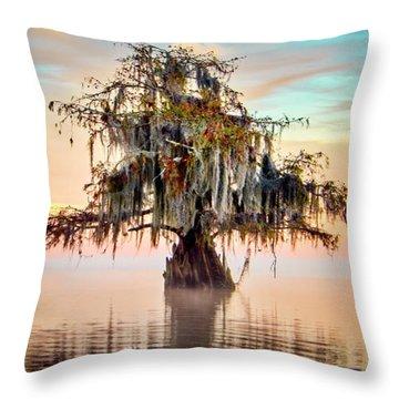 Lake Maurepas In Pastels Throw Pillow