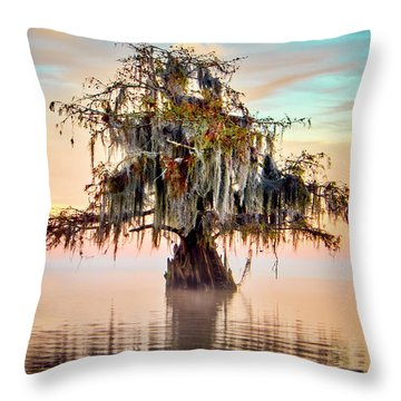 Lake Maurepas In Pastels Throw Pillow