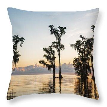 Lake Maurepas Sunrise Throw Pillow