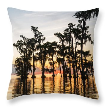 Lake Maurepas Sunrise Throw Pillow