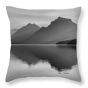 Lake Mcdonald Throw Pillow