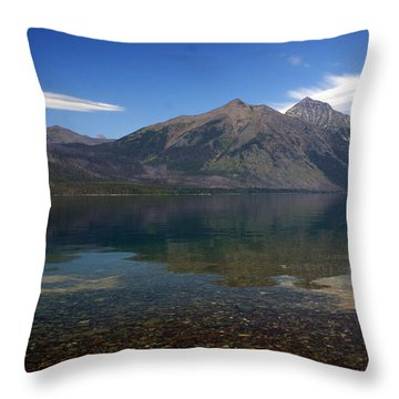 Lake Mcdonald Reflection Glacier National Park 2 Throw Pillow by Marty Koch