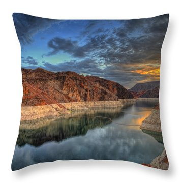 Lake Mead Sunrise Throw Pillow