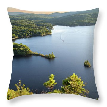 Lake Megunticook, Camden, Maine  -43960-43962 Throw Pillow