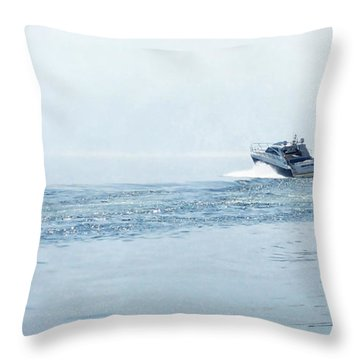 Throw Pillow featuring the photograph Lake Michigan Boating by Lars Lentz